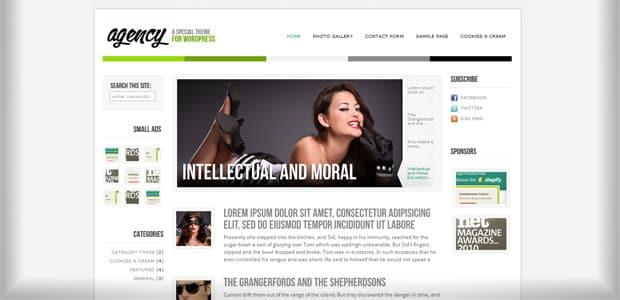 Agency - Un thème WordPress Gratuit pour votre Blog