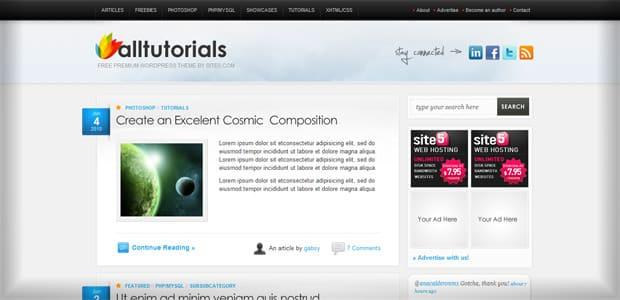 AllTuts - Un thème WordPress Gratuit pour votre Blog