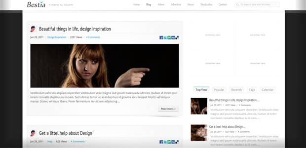 Bestia - Theme WordPress Aout 2011