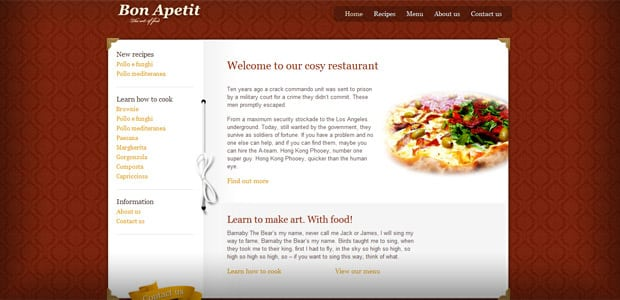 Bon Apetit - Theme WordPress Restaurant