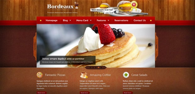 Bordeaux - Theme WordPress Restaurant
