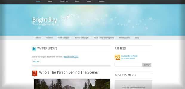 Brightsky - Un thème WordPress Gratuit pour votre Blog