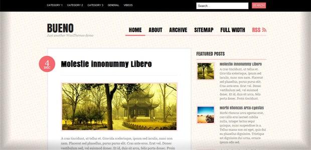 Bueno - Un Thème WordPress Gratuit pour votre Blog