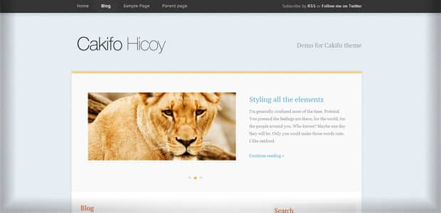Cakifo - Un thème WordPress Gratuit pour votre Blog