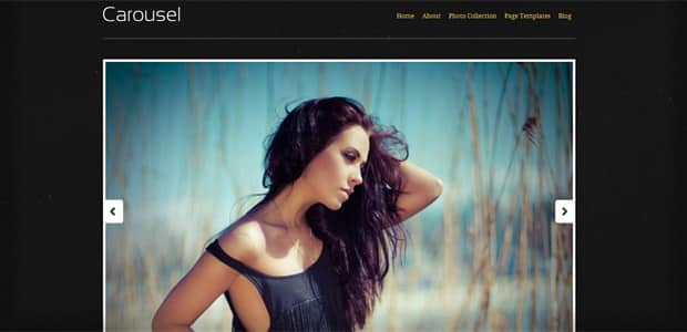 Carousel - Thème WordPress Photo