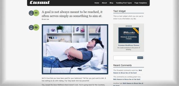Casual - Un thème WordPress Gratuit pour votre Blog
