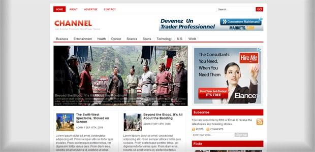 Channel - Un thème WordPress Gratuit pour votre Blog