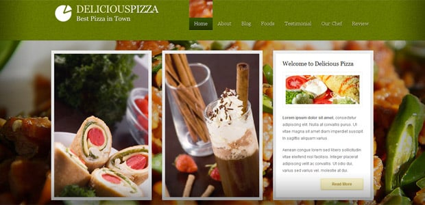 Delicious Pizza - Thème WordPress Restaurant