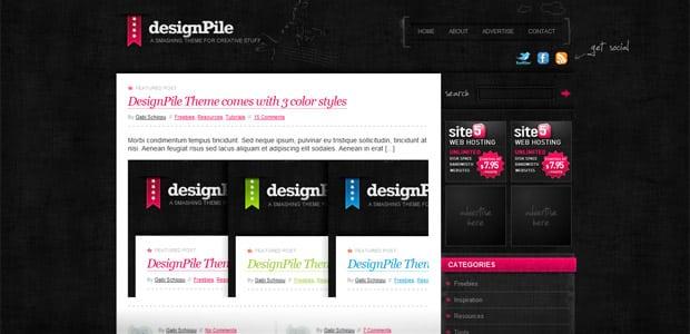 Designpile - Un thème WordPress Gratuit pour votre Blog