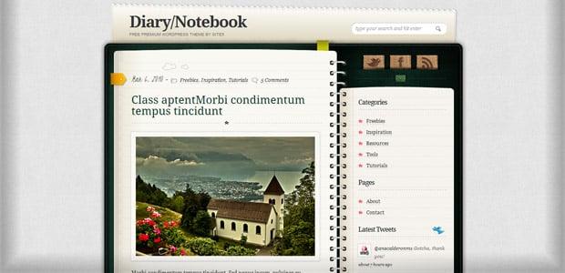 Diary - Un thème WordPress Gratuit pour votre Blog