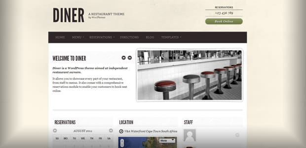 Diner - Theme WordPress Restaurant
