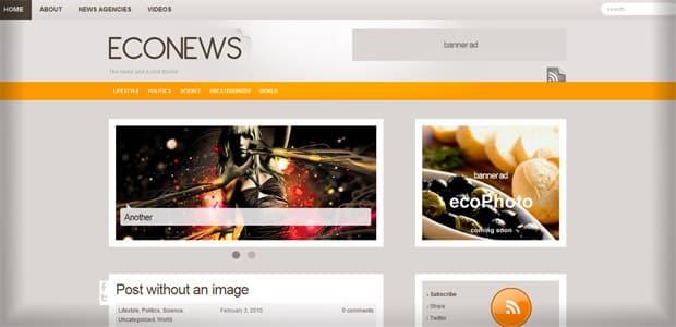 EcoNews - Un thème WordPress Gratuit pour votre Blog