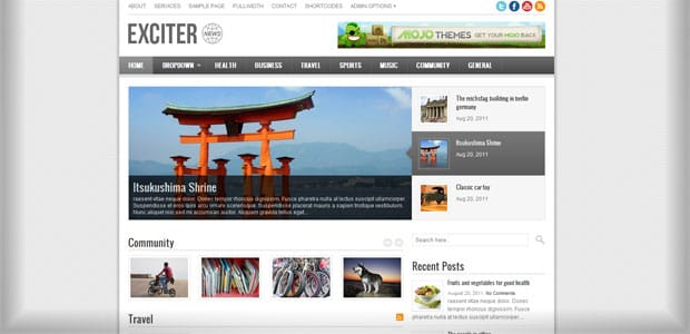 Exciter - Theme WordPress Aout 2011