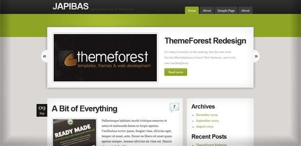Japibas - Un thème WordPress Gratuit pour votre Blog