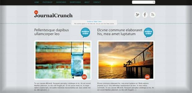 JournalCrunch - Un thème WordPress Gratuit pour votre Blog