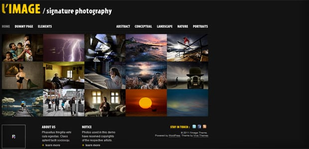 L'image - Thème WordPress Photo