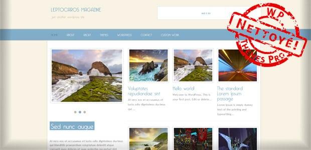 Leptocaros Magazine - Un thème WordPress Gratuit pour votre Blog
