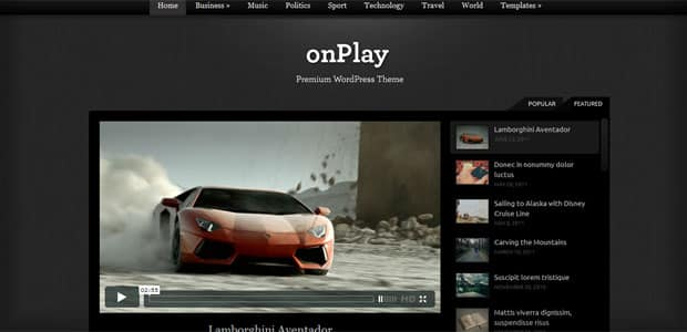 onPlay - Theme WordPress Aout 2011