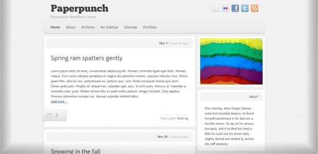 Paperpunch - Un thème WordPress Gratuit pour votre Blog