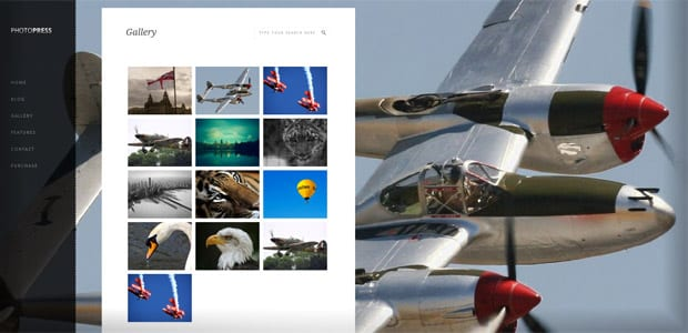 Photopress - Thème WordPress Photo