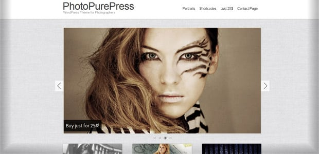 Photopurepress- Thème WordPress Photo
