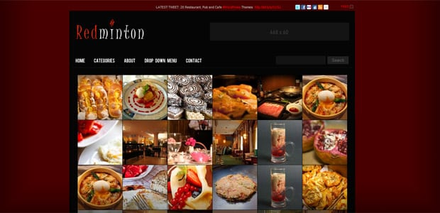Redminton - Thème WordPress Restaurant