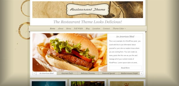 Restaurant-Creme - Theme WordPress Restaurant