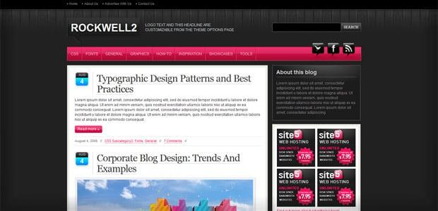 Rockwell - Un thème WordPress Gratuit pour votre Blog