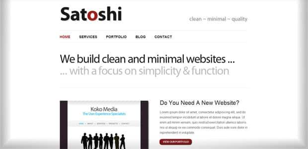 Satochi - Un thème WordPress Gratuit pour votre Blog