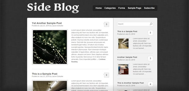 SideBlog - Un Thème WordPress Gratuit pour votre Blog