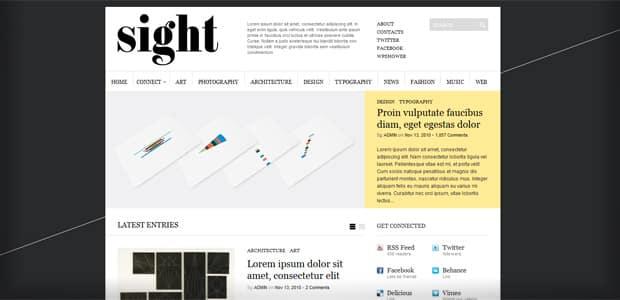 Sight - Un thème WordPress Gratuit pour votre Blog