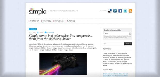 Simplo - Un thème WordPress Gratuit pour votre Blog