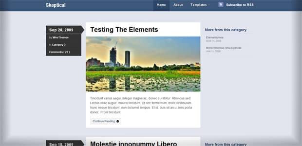 Skeptical - Un thème WordPress Gratuit pour votre Blog
