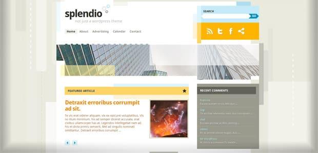 Splendio - Un thème WordPress Gratuit pour votre Blog