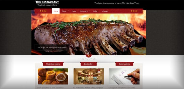 The Restaurant - WordPress Theme Restaurant