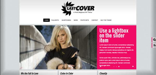 Theme WordPress Photo - Lastcover