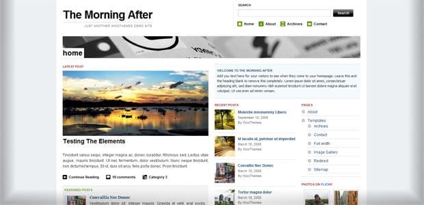 The Morning After - Un thème WordPress Gratuit pour votre Blog