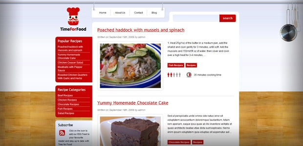 Time For Food - Theme WordPress Restaurant
