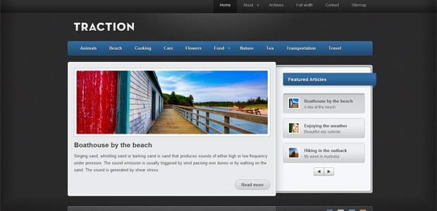 Traction - Un thème WordPress Gratuit pour votre Blog