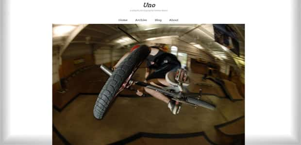 Uno - Thème WordPress Photo