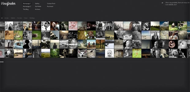 Viewfinder - Thème WordPress Photo