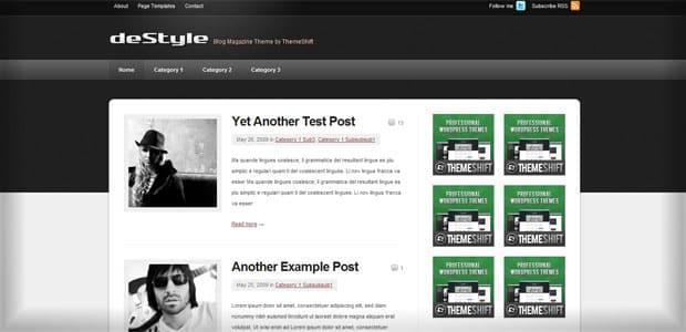 deStyle - Thème WordPress Gratuit en Français