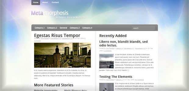 Meta Morphosis - Thème WordPress Gratuit en Français