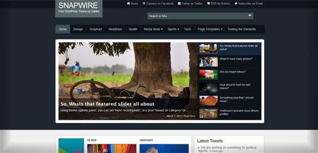 Snapwire - Thème WordPress Gratuit en Français