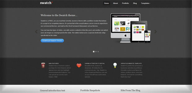 Swatch - Thème WordPress Gratuit en Français