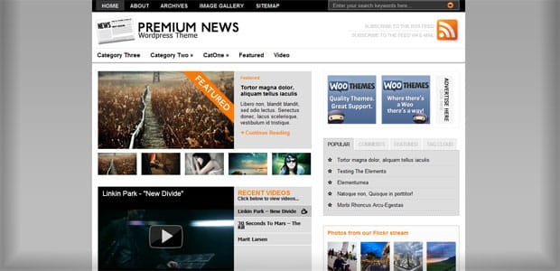 The Original Premium News - Thème WordPress Gratuit en Français