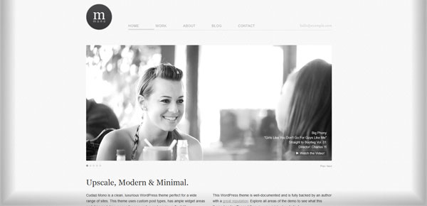 Cudazi Mono - Theme WordPress Gratuit Minimaliste
