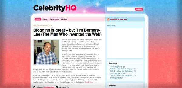 Celebrity HQ - Theme WordPress Gratuit