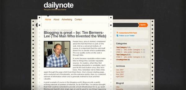Dailynote - Theme WordPress Gratuit