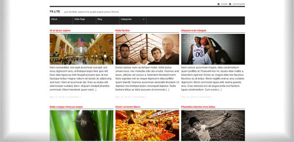 F8 Lite - Theme WordPress Gratuit Minimaliste